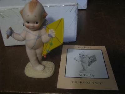 """The Franklin Mint """"ALL TIED UP"""" Bisque Kewpie Doll with Box 1990"""