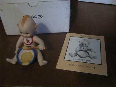 """The Franklin Mint """"SECOND HELPINGS"""" Bisque Kewpie Doll with Box 1990"""