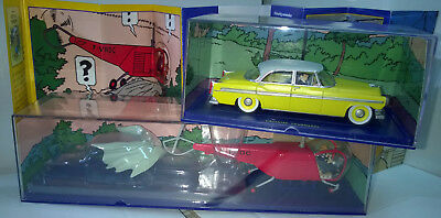 ATLAS TINTIN CAR #47 CHRYSLER #48 BELL Helicopter The Calculus Affair MINT Boxed