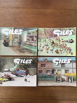 Giles Annuals set of 4, No's: 17, 18, 19, 20. Ideal for collector