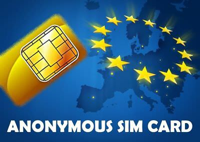 Plug & Play: Ready 100% Anonymous prepaid payg SIM card from Lyca: for Europe EU