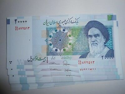 5 x 20000 Iranian Rial (Khomeini) UNC Collectible Banknotes