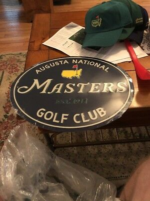 2018 Masters Metal Sign. New Item. Fast Shipping.