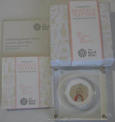 2018 Flopsy Bunny Beatrix Potter 50p Fifty Pence Silver Proof Coin Royal Mint