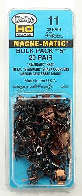 "KADEE #11  Metal Medium (9/32"") Centerset Shank. 40 pack HO Scale"
