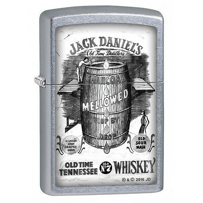 "Zippo ""Jack Daniels Old No. 7"" Lighter, Street Chrome Finish, 2692"