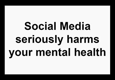 'Social Media seriously harms your mental health' Sticker (1000 pieces)
