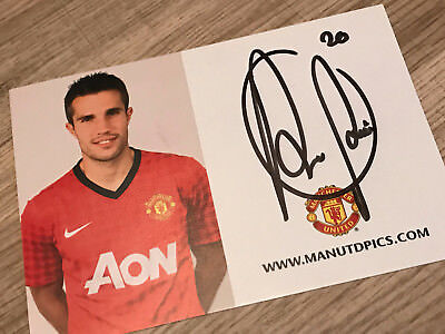 Robin Van Persie Hand Signed Squad Card Manchester United RVP - with COA