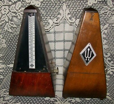 2 x VINTAGE WITTNER METRONOMES *for parts, repairs, not working* 0002 & 0214?