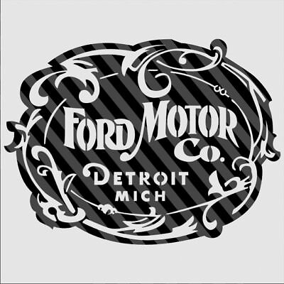 DXF CDR File For CNC Plasma Laser Cut - Classic Ford Motor Company Logo Sign