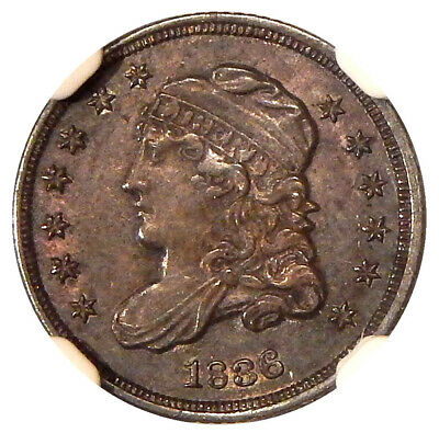 1836 3/INVERTED 3 H10c NGC MS-62 LM-3 ~ NEAT CAPPED BUST HALF DIME VARIETY