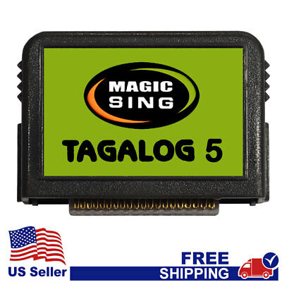 "MAGIC SING Chip ""Tagalog 5""  - Tagalog & English Song Chip w/ SONG LIST"