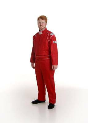 Ultrashield Single Layer Red Race Suit SFI XXL AMCA Speedway Drag Drift Rally
