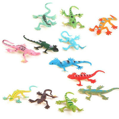 Gecko small plastic lizard Simulation reality decoration Children's toys 12 p DA