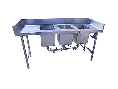 "Stainless Steel Triple 3 Compartment Industrial / Commercial Sink 70""x24""x40"""