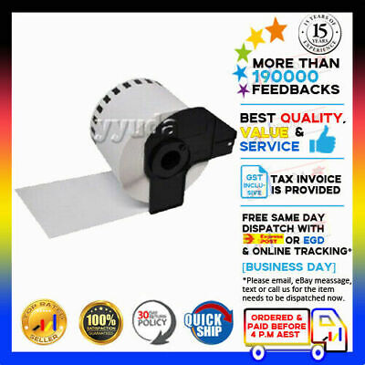 1x DK22205 DK-22205 Brother Compatible Roll 62mm x 30.48m Continuous Label Tape