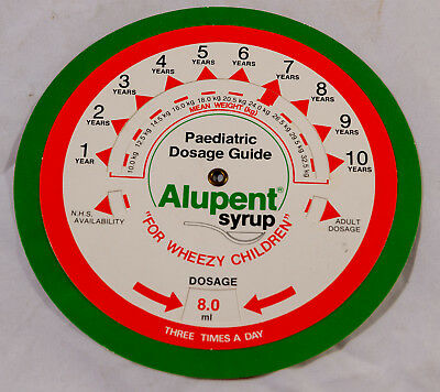 Vintage Paediatric Dosage Guide - Alupent Syrup Calculator