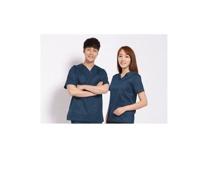 SEKYEONG Operating Gown Dress nursing Wear Hospital Unisex Up-and-Down Navy_nV