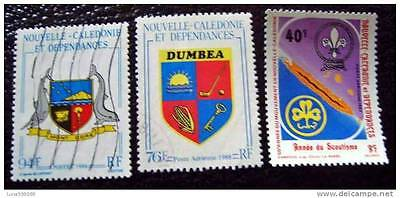 NEW CALEDONIA stamps stamp yvert and n tellier°524 aerial 223 et 257 obl