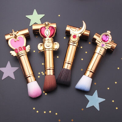 Sailor Moon 4Pcs Make Up Brush Set Foundation Face Powder Contour Brushes Makeup