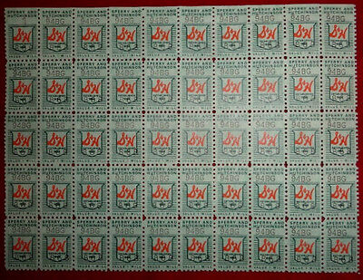 Vintage S & H Sperry Hutchinson Green Trading Stamps  1 mil - Sheet of 50