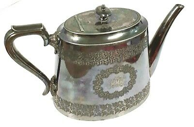 Walker & Hall Sheffield England Silver Coffee Teapot Garland Design Vintage