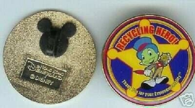 Disney Jiminy Cricket Recycling Hero Hong Kong Disneyland pin