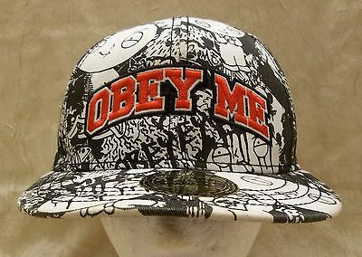 Family Guy Obey Me Hat Elastic Band Adult Cap S/M Small/Medium Stewie