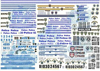 Police Decals in all scales up to 1:18 | NYPD, Highway Patrol & NSW Police Force