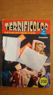 ELVIFRANCE  BD ADULTE EROTIQUE N°38 - 1977 - terrificolor - Inceste