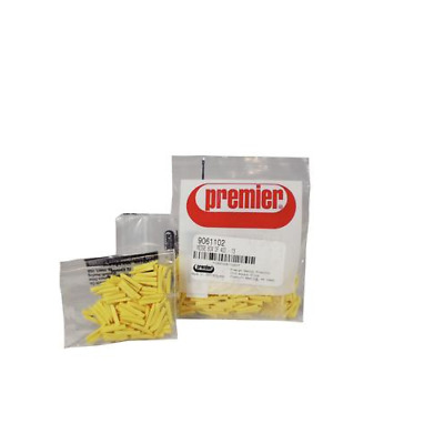 Premier Dental 9061102 Sycamore Anatomical Matrix Wood Wedges #13 Yellow 400/Bx