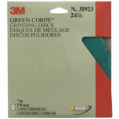 """3M Production 31923 Green Corps Grinding Disc - 7"""" x 7/8"""" 24 Grade"""
