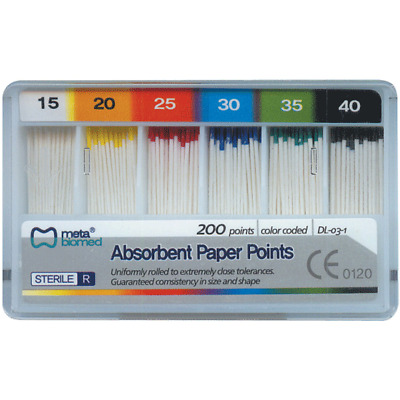 House Brand PPCC Absorbent Root Canal Paper Points Cell 200/Pk Coarse