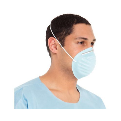 Halyard Health 00152 Standard Molded Cone Classic Surgical Face Masks Blue 50/Bx