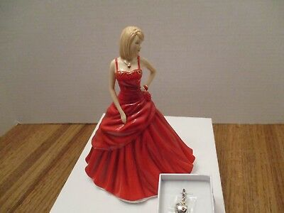 Royal Doulton Pretty Ladies CHARM HEART Swarovski crystal NIB