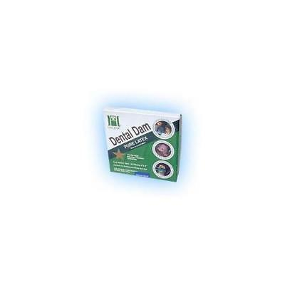 "Coltene Whaledent H00539 Hygenic Rubber Dental Dams 6"" x 6"" Medium Dark 36/Bx"