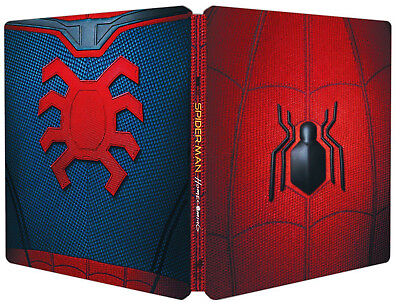 SPIDERMAN HOMECOMING Collector's Steelbook Edition+Comic Book (2 BLU-RAY+Gadget)