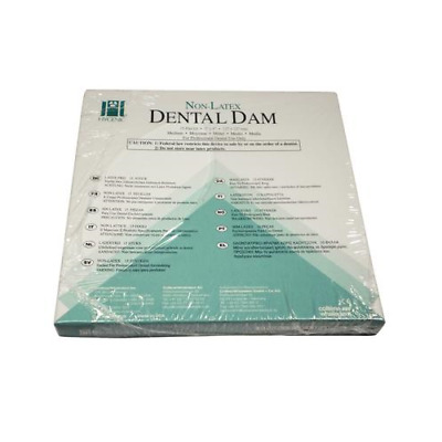 "Coltene Whaledent H09928 Hygenic Non-Latex Dental Dam 5"" x 5"" Medium Green 15/Bx"