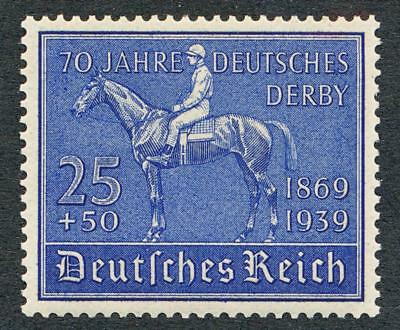 Germany B144 Mint Nh, 1939 Derby, Horse