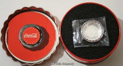 2018 Coca Cola Licenced Fiji Silver Proof Colorized One Dollar Bottle Cap Coin