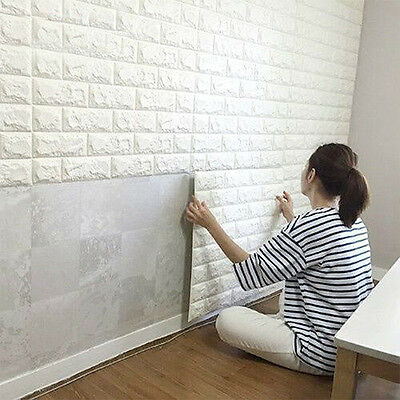 3D XPE Brick Waterproof Wall Sticker Self Adhesive Panel Home DIY Wallpaper