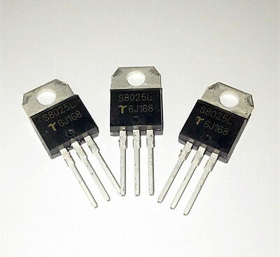5PCS   S8025L  S8025  S8O25L  TO-220  Unidirectional Silicon Controlled Silicon