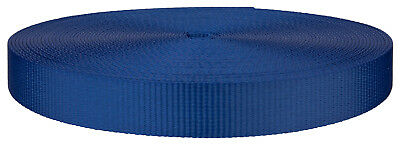 1 Inch Royal Blue Polyester Webbing Closeout, 20 Yards