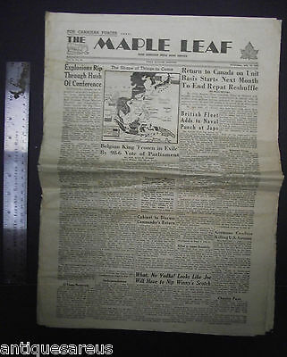 Antique The Maple Leaf Newspaper West Europe Edition July 18 1945