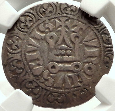 1285 France Medieval French PHILIP IV the Fair Antique Silver Coin NGC i68306