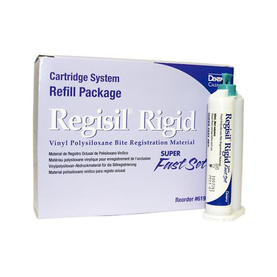 Dentsply Caulk 619425 Regisil Rigid VPS Cartridge Super Fast Set 50 mL 4/Pk