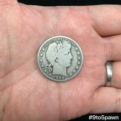 1906-S 50¢ Barber Half Dollar * Free Shipping *  #9To5Pawn #9To5Jewelry