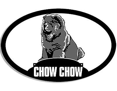 Oval CHOW CHOW Silhouette Sticker (dog breed)