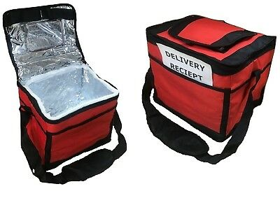 "Insulated Hot Food Delivery Bag Size 12""X10""X9"" Inch For Kebab Indian Chinese"