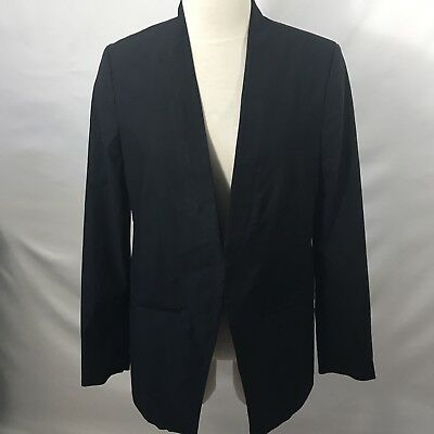 A Pea In The Pod Blazer Medium Open Front Black Jacket Maternity NWT $148 Career